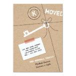 Papierpaket u. Schlüssel-Haus-Erwärmungs-Party 11,4 X 15,9 Cm Einladungskarte