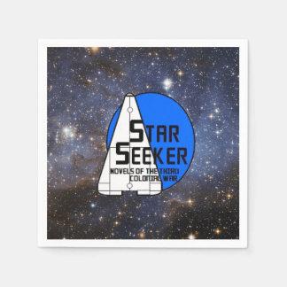 Papierraum-Servietten - Stern/Galaxie mit Logo Serviette