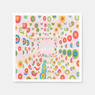 Papierservietten-Blumen-Girlanden KUNST durch Papierservietten