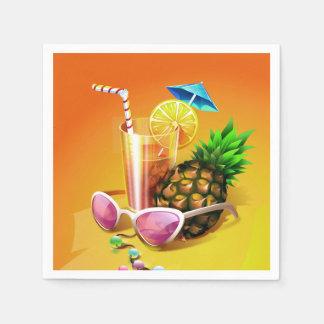 Papierservietten des tropischen Getränks