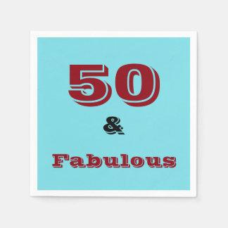 Papierservietten für fünfzigste Geburtstagsfeiern