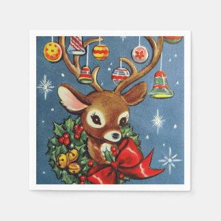 Papierservietten Retro Weihnachtsren Party