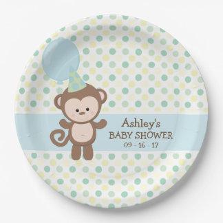 PapierTeller - Jungen-Affe-Baby-Dusche