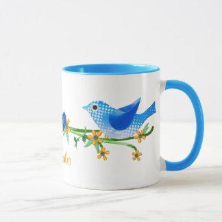 Papiervogel-Name-Tassen-Blau Tasse