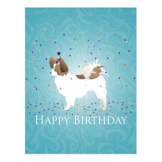Papillon - alles Gute zum Geburtstag Postkarte