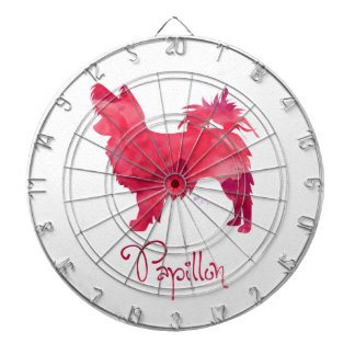Papillon Aquarell-Entwurf Dartscheibe