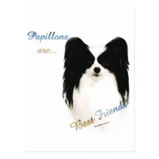 Papillon bester Freund 2 Postkarte