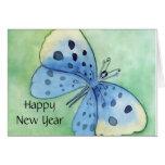 Papillon bleu cartes de vœux