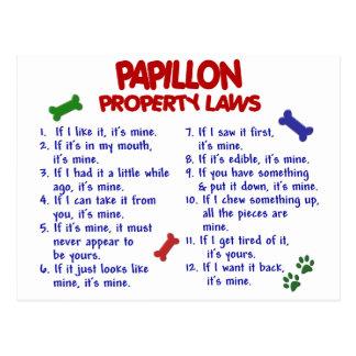 PAPILLON Eigentums-Gesetze 2 Postkarte