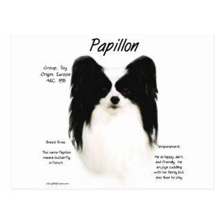Papillon Geschichtsentwurf Postkarte