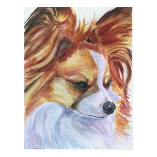 Papillon Hundepostkarten Postkarte