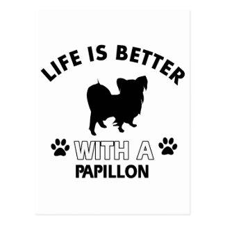 Papillon Hundezuchtentwürfe Postkarte
