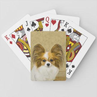 Papillon (Jagdhund-Tri Farbe) Spielkarten