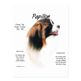 Papillon (Phalene) Geschichtsentwurf Postkarte