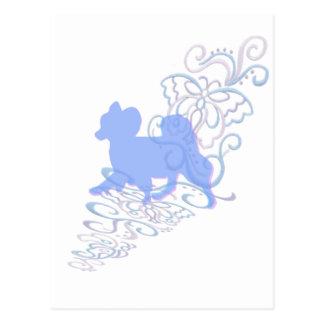 papillon Spitze Postkarte