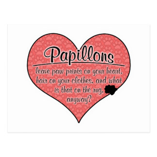Papillon Tatze druckt Hunde Humor Postkarte
