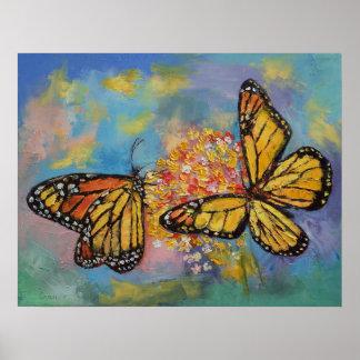 Papillons de monarque poster