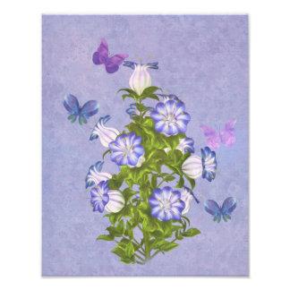 Papillons et fleurs de Bell Photos D'art