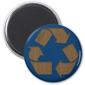 Pappe recyceln Symbol-Magneten Runder Magnet 5,7 Cm