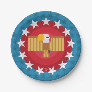 Pappteller Freiheits-Eagles (blau) -