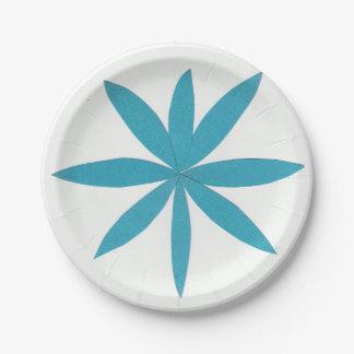 Pappteller mit einem Türkis-Stern