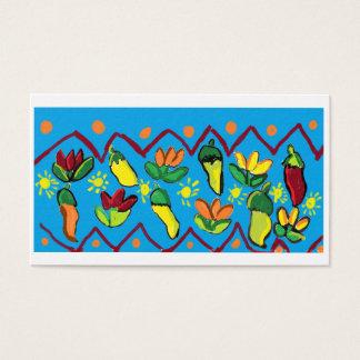 Paprikaschoten und Blumen Visitenkarte