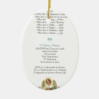 Papst francis= St Francis einfaches prayer=angel Keramik Ornament