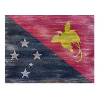 Papua-Neu-Guinea beunruhigte Flagge Postkarte