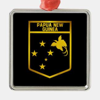 Papua-Neu-Guinea Emblem Silbernes Ornament