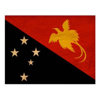 Papua-Neu-Guinea Flagge Postkarte