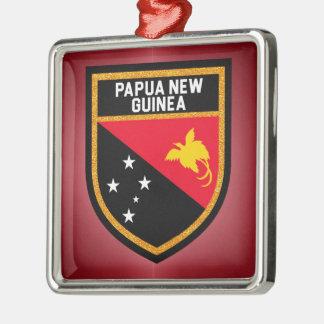 Papua-Neu-Guinea Flagge Silbernes Ornament
