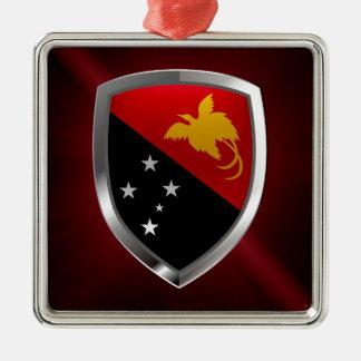 Papua-Neu-Guinea metallisches Emblem Silbernes Ornament