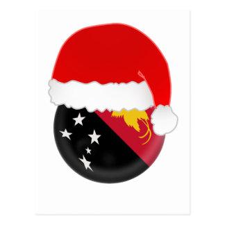 Papua-Neu-Guinea Sankt, Flagge und Hut Postkarte