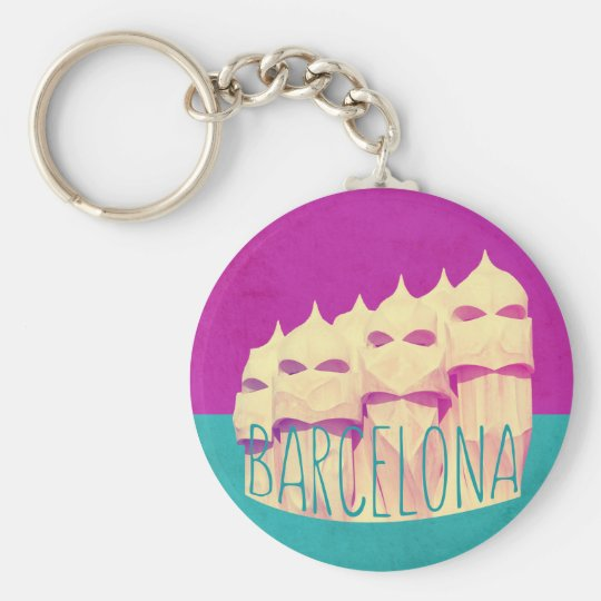 Paradies Barcelonas Gaudi Standard Runder Schlüsselanhänger