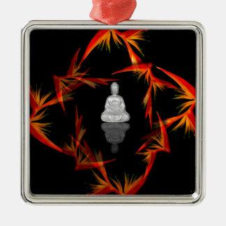 Paradies Buddha Silbernes Ornament
