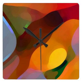 Paradies gefundene abstrakte Kunst Quadratische Wanduhr