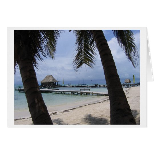 Paradies in Belize Mitteilungskarte