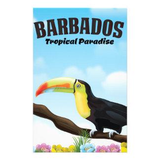 Paradies-Reiseplakat Barbados tropisches Briefpapier