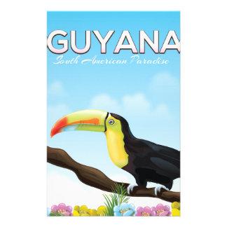 Paradies-Reiseplakat Guyanas südamerikanisches Briefpapier