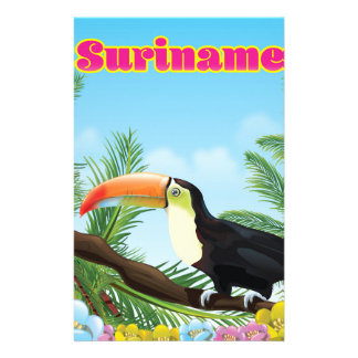 Paradies-Reiseplakat Surinams südamerikanisches Briefpapier