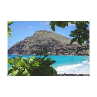 Paradies-Strand Leinwanddruck