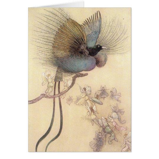 Paradiesvogel durch Künstler Warwick Goble Karte