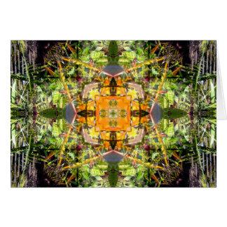 Paradiesvogel Mandala Grußkarte