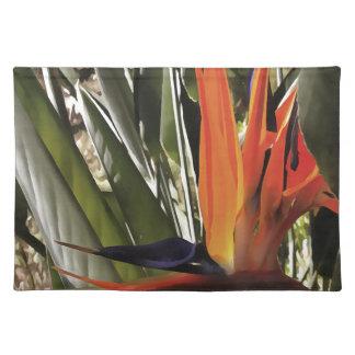 Paradiesvogel (Strelitzia) Stofftischset