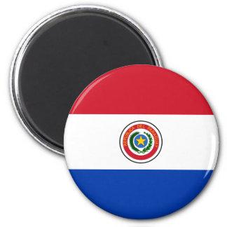 Paraguay Runder Magnet 5,7 Cm