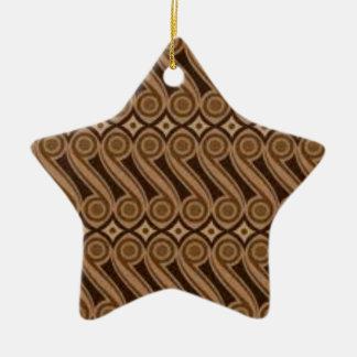 Parangs Batik Keramik Stern-Ornament