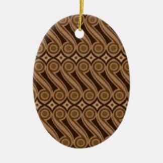 Parangs Batik Ovales Keramik Ornament