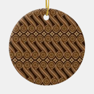 Parangs Batik Rundes Keramik Ornament