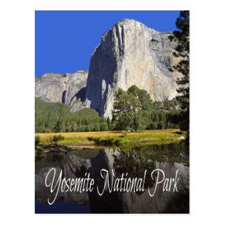 Parc national de Yosemite, carte postale de la