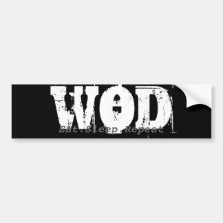 Pare-chocs de WOD.Eat.Sleep.Repeat Adhésifs Pour Voiture
